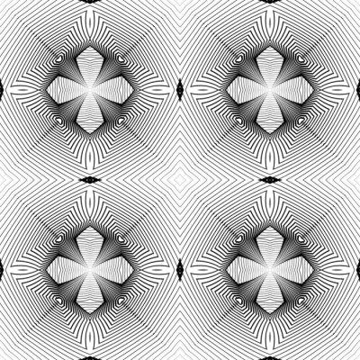 Carta da parati Design senza soluzione di continuità in bianco e nero disegno geometrico
