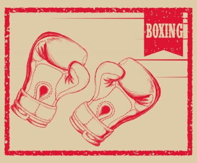 Carta da parati design sportivo Boxing