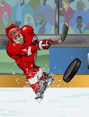 Carta da parati Detroit giocatore di hockey su ghiaccio.