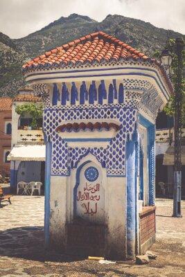Carta da parati Dettaglio architettonico a Chefchaouen, Marocco, Africa