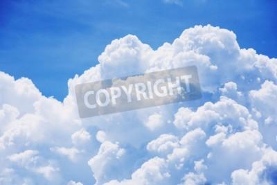 Carta da parati dettaglio della nube alta su sfondo blu cielo