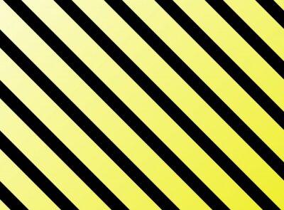 Carta da parati Diagonale Streifen Gelb Schwarz