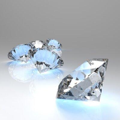 Carta da parati Diamanti 3d in composizione