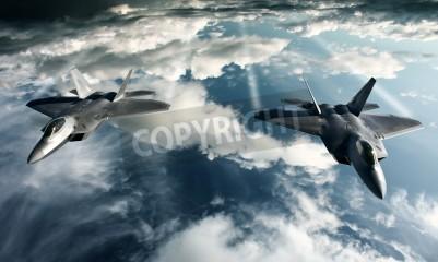 Carta da parati Digital imaging di aereo militare facendo un volo in alta atteggiamento