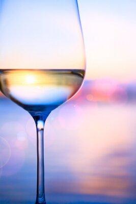 Carta da parati Digitare vino bianco sul mare estate sfondo