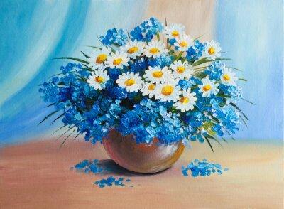 Dipinto ad olio - natura morta, un mazzo di fiori carta da parati ...