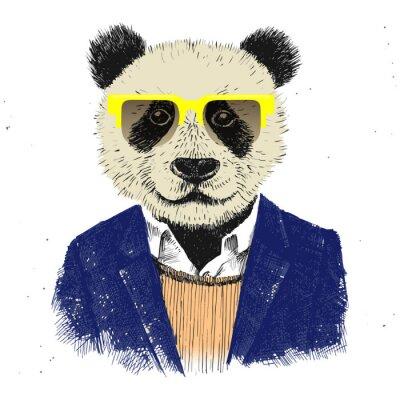 Carta da parati Disegnata a mano vestito pantaloni a vita bassa del panda