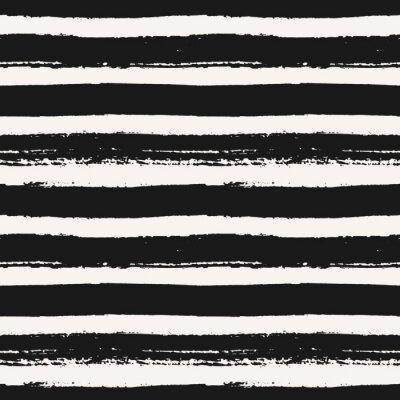 Carta da parati Disegnato a mano Striped Seamless Pattern