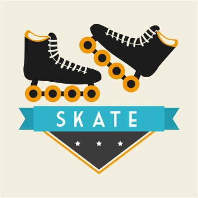 Carta da parati disegno Skate