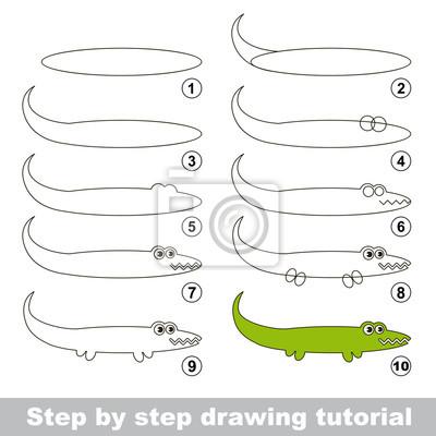 Disegno tutorial. come disegnare un alligatore carta da parati ... cb3deac34549