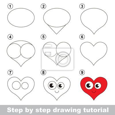 Disegno tutorial. come disegnare un cuore carta da parati • carte da ... c9ed763f2abd
