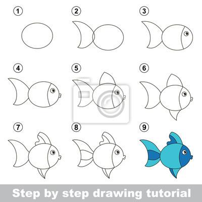 Disegno Tutorial Come Disegnare Un Fish Carino Carta Da Parati