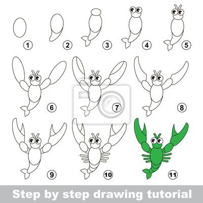 Disegno tutorial. come disegnare un gamberi carta da parati • carte ... d069bfcb7b4b