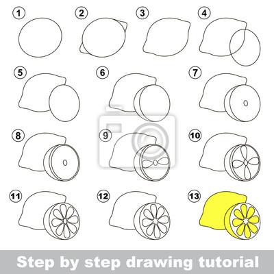 Disegno tutorial. come disegnare un limone carta da parati • carte ... 3cb553391873