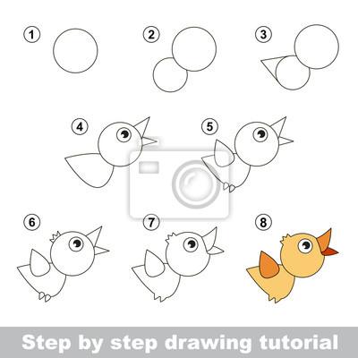 Disegno tutorial. come disegnare un uccello carta da parati • carte ... 119a4bfd3395