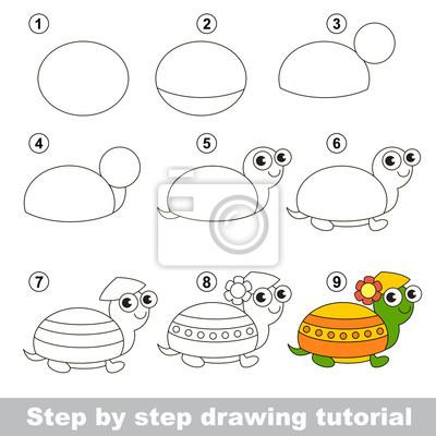 Disegno tutorial. come disegnare una tartaruga carta da parati ... 95630856c71b