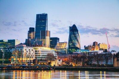 Carta da parati Distretto finanziario della City di Londra