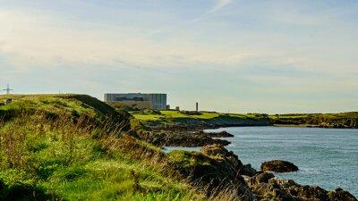 Carta da parati Disuso e chiusura dell'impianto Power Station Nuclea, Wylfa, Galles.