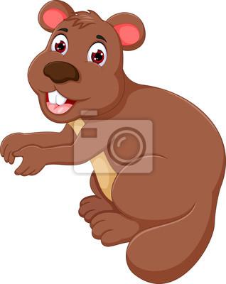 Divertente cartone animato da marmotta con la parte anteriore