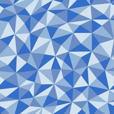 Carta da parati Documento blu sgualcito con motivo geometrico senza soluzione di continuità