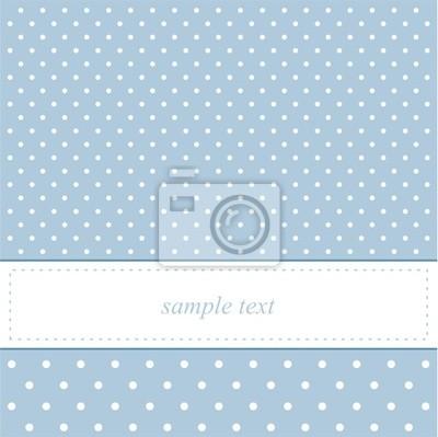 Ben noto Dolce carta di puntini blu pois o invito carta da parati • carte HU75