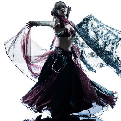 Carta da parati donna araba ballerino di danza del ventre