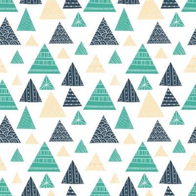 Carta da parati Doodle Seamless Pattern Triangolo