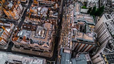 Carta da parati Drone Foto di London, Mayfair.