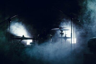 Carta da parati Drum Set in fumo su un palco