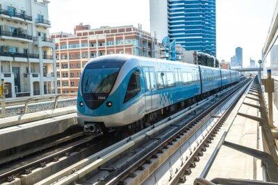 Carta da parati Dubai ferrovia metropolitana