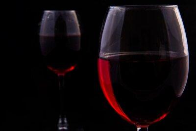 Carta da parati Due bicchieri di vino rosso