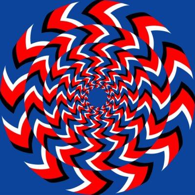 Carta da parati Effetto di rotazione con effetto illusione ottica