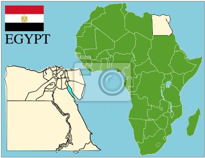 Cartina Africa Egitto.Carta Da Parati Egitto Emblema Mappa Africa Mondo Il Successo Aziendale Sfondo