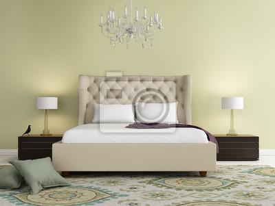 Carta da parati: Elegante camera da letto di lusso calce contemporaneo