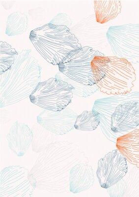 Carta da parati Elegante sfondo con petali