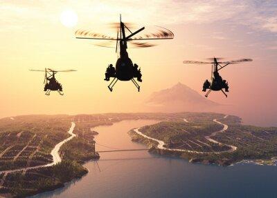 Carta da parati elicottero militare