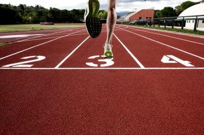 Carta da parati Eseguire sulla pista di atletica