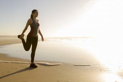 Carta da parati Esercizio in spiaggia