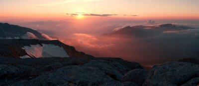 Carta da parati Estate in montagna tramonto