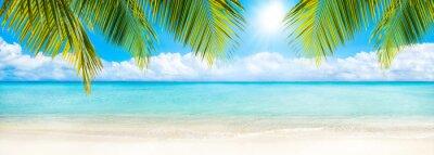 Carta da parati Estate, sole, spiaggia e il mare come sfondo