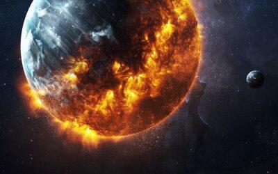 Carta da parati Estratto apocalittico sfondo - la masterizzazione e il pianeta che esplode. Questi elementi immagine fornita dalla NASA