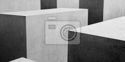 Carta da parati Estratto b & w motivo geometrico