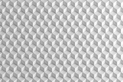 Carta da parati Estratto bianco scatole scala texture di sfondo 3d