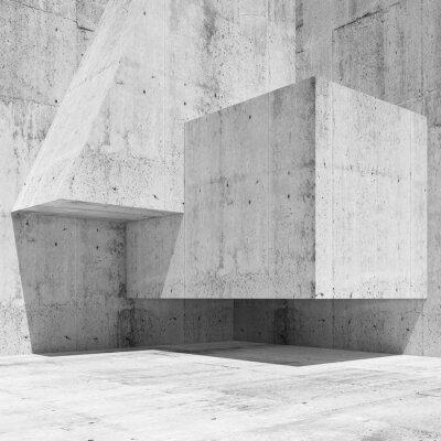 Carta da parati Estratto cemento bianco interni frammento 3 d