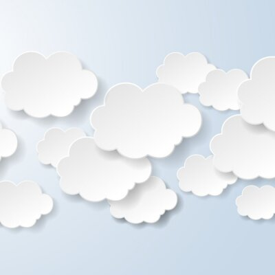 Carta da parati Estratto fumetti a forma di nuvole utilizzati in un sociale