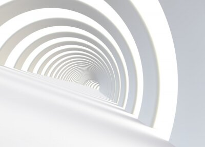Carta da parati Estratto futuristico tunnel in uno stile contemporaneo