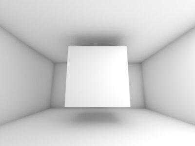 Carta da parati Estratto interna camera bianca con volare cubo