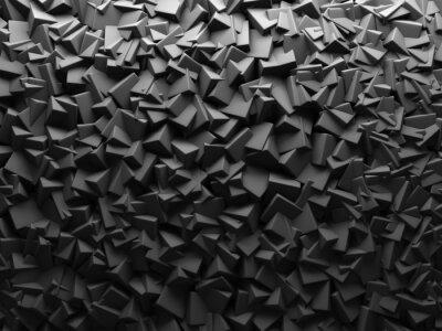 Carta da parati Estratto scuro Chaotic Cube modella la priorità bassa.