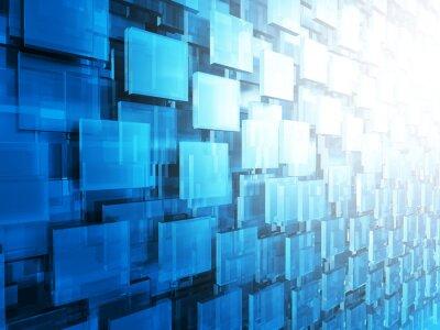 Carta da parati Estratto settori ad alta tecnologia Piazze sfondo lucido