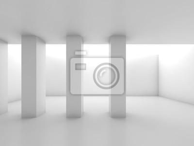 Carta da parati Estratto stanza bianca con colonne, vuoto interiore